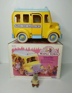 Vintage 1988 Tonka Maple Town School Bus Sylvanian Families Calico Critters Box