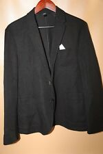 #67 Neil Barrett Black Linen Blend Sports Blazer Jacket Size 40  SLIM FIT