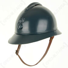 More details for french ww1 adrian helmet leather liner & chin strap m15 army military repro new