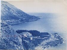 La baie de Grimaldi Italie Italia Photo James Jackson Vintage cyanotype 1886