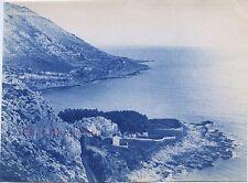 La baie de Grimaldi Italie Italia Photo James Jackson Vintage cyanotype 1886