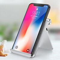Foldable Phone Tablet Desk Holder Adjustable Stand For iPhone Samsung Universal