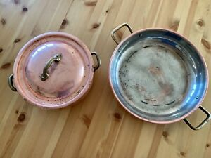 Vintage Copper Saucepan & Frying Pan