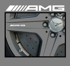 4x Mercedes AMG Logo Felgen Aufkleber Weiß