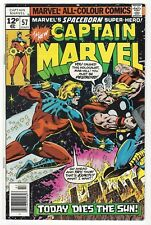 CAPTAIN MARVEL #57 | Vol. 1 | UK 12p (pence) Price Variant | Thor | 1978 | VF