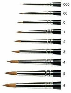 Winsor & Newton Series 7 Kolinsky Sable MINIATURE Painting Brush - Choose Size