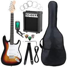 Electric Guitar Set Amplifier Tuner Gigbag Strap Cable Strings Picks Sunburst