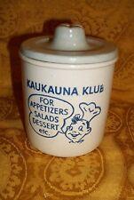 Vintage Kaukauna Klub Cheese Crock w/  Lid , Empty