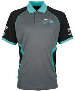 POLO Shirt Jaguar Racing Formula E Panasonic Team Poloshirt Grey Cyan NEW!