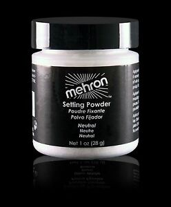 Mehron UltraFine Setting Powder Neutral,Soft Beige,Ultra White 1oz (28 g) Makeup