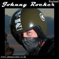 Johnny Rocker Davida style black open face leather mask