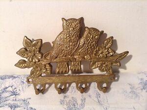 Vintage French Key Storage Hooks - Owl (1543)