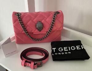 Kurt Geiger Quilted Kensington Patent Bubblegum Pink Leather belt bum waist bag