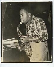 "Vintage 1940s Jazz Charlie ""Bird"" Parker Saxophone Soloist & Bebop Pioneer Photo"