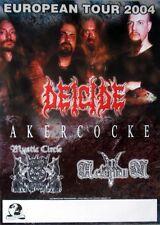 Deicide - 2004-tourplakat-Akercocke-Mystic Circle-European-tourposter