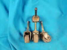 Set of 4 Vintage Wooden Wheel Casters 1""