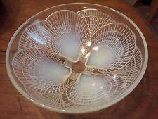 ancien saladier coupe opalescente R. LALIQUE coquille praire st jacques 21 cm