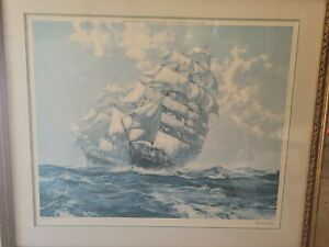 """""""Ariel and Taeping"""" framed by Montague Dawson"""