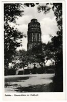 Ansichtskarte Bochum - Blick auf den Bismarckturm im Stadtpark - schwarz/weiß
