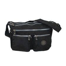 Bag Street Nylon Umhängetasche Damentasche Handtasche 2243 Schwarz