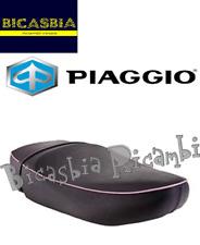 65428500A2 ORIGINALE PIAGGIO SELLA SELLONE NERO BORDINO ROSA VESPA LX 50 125 150