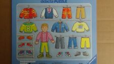 Vintage didacta Puzzle Tray Boys Clothes Closet 18 Pieces Ages 3+ FREE SHIPPING