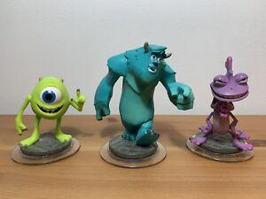 Disney Infinity Figures Bundle, Monsters Inc, SULLY RANDALL MIKE