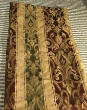 Damask Fabric Shower Curtain Gold, Burgundy, Olive Green. Better Homes & Gardens