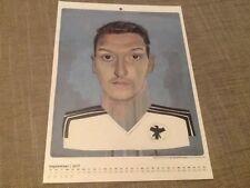 Mesut Ozil Germany Tschutti Heftli September 2017 calendar print A4 Arsenal
