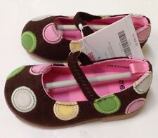 NWT Gymboree Tea For Two Sz 5 Faux Suede Polka Dot Flats Shoes for 12-18 Months