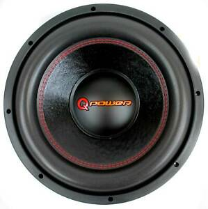 Q Power 15 Inch 4000 Watt Super Deluxe Subwoofer  DVC Car Audio Sub | QP15-Super