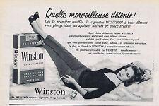 PUBLICITE ADVERTISING 084 1956 WINSTON cigarettes américaines
