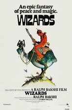 WIZARDS (1977) ORIGINAL MOVIE POSTER  -  FOLDED  -  WILLIAM STOUT ARTWORK