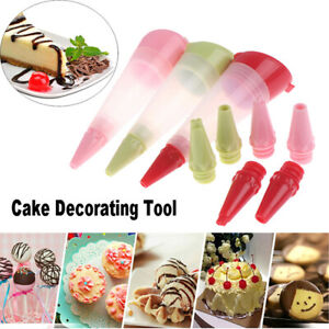 1pc Silicone Food Writing Pen Chocolate Biscuits Frosting Pipe Pastry NozzEX