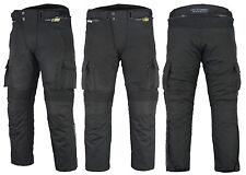 Mens CE Armoured Cordura Motorcycle Motorbike Waterproof Cargo Trousers Pants