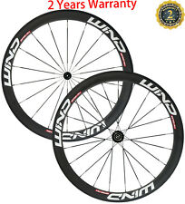 700C Bicycle Wheels 50mm Clincher Road Wheelset Road Bike Full Carbon Fiber T700