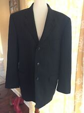 Donald J Trump Mens Suit Coat Size 42 S Blue Pinstripe Three Button Wool