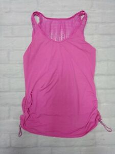 Lululemon Womens Workout Gym Yoga Tank Top in Pink Size 10