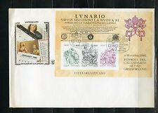 VATICAN CITY LOT OF SOUVENIR SHEETS(3 USED) & 3 MINT NH & ONE FDC