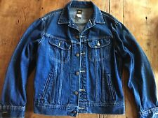 Vintage 1980'S Lee Denim Jean Jacket,Sz 38R,Mid Blue,Usa 101 Black Tag