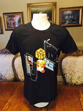 Mario Nerd Block Exclusive T-Shirt L Classic Super Mario Plumber Bros Shirtpunch