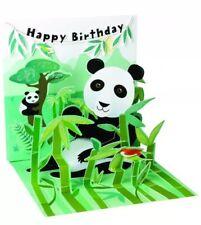 3D Pop-Up Greeting Happy Birthday Card ~ Pandas
