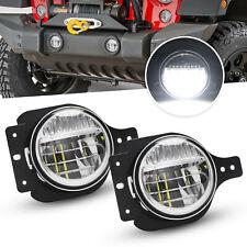 "For 2018-2019 Jeep Wrangler JL 4"" inch LED Fog Lights Clear Lens Driving Lamps"