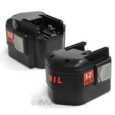 2x 12V 2000mAh 2.0AH NiCd Battery for MILWAUKEE 48-11-1900 48-11-1950 48-11-1960