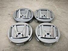 New Set Of 4 Silver Chrome Logo Hub Center Cap For Alloy Wheel Rim 58mm 225