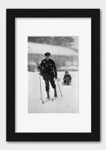 Mail Delivery by Ski in Reading Berkshire England 1982 Print 3
