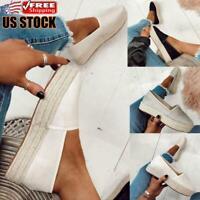 Womens Loafers Pumps Ladies Casual Espadrilles Platform Flat Sneakers Shoes Size