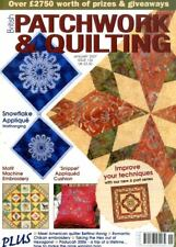 Patchwork & Quilting revista #156 - motivo Bordado de la máquina, Copo De Nieve appliqu