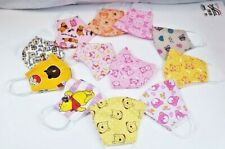3 pack HANDMADE FACE COVER Adult teen MASK love Pooh Happy Bear colorful pink