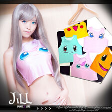 Lolita cosplay Pokemon Pocket Monsters Jigglypuff crop tube tank top【J1M0210】